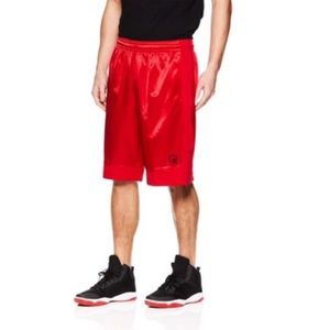AND1 Red Athletic Basketball Shorts Small